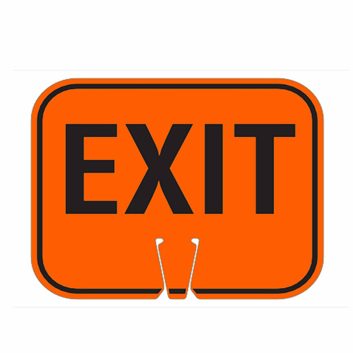 "RK Traffic Cone Sign 29 Legend ""EXIT"", 18"" Width x 14"" Height, Black on Orange - RK Safety"