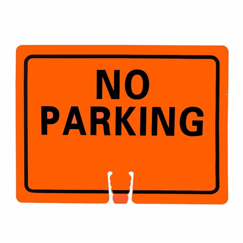 "RK Traffic Cone Sign 22 Legend ""No Parking"", 18"" Width x 14"" Height, Black on Orange-RK Safety-RK Safety"