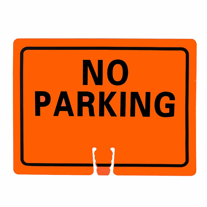 "RK Traffic Cone Sign 17 Legend ""No Parking"", 18"" Width x 14"" Height, Black on White - RK Safety"
