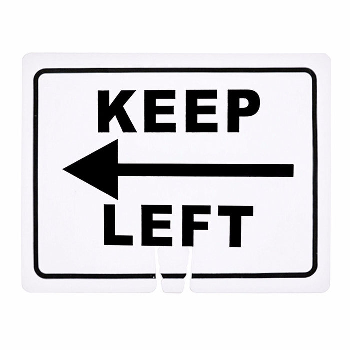"RK Safety Traffic Cone Sign 12 Legend ""Keep Left"", 18"" Width x 14"" Height, Black on White - RK Safety"