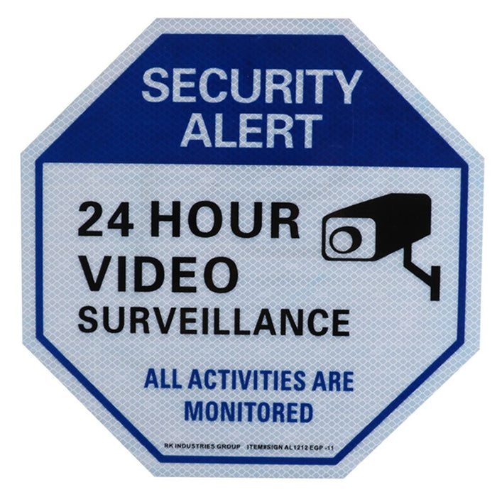 "RK Video Surveillance Sign, Legend ""24 Hour Video Surveillance"" - RK Safety"