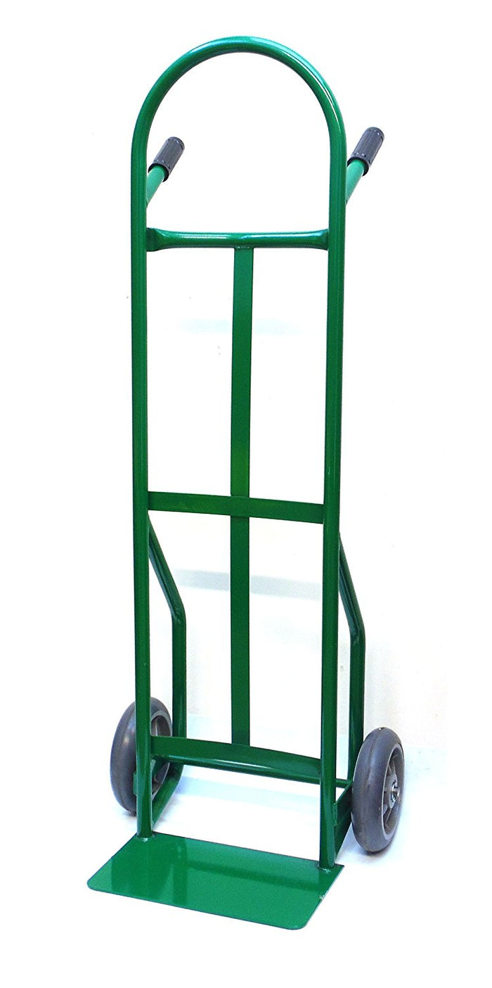 "NK HTS-4072GN Steel Dual Handle Hand Truck with 8"" Flat-Free Non Marking TPR Wheels, Green (Local Pickup Only) - RK Safety"