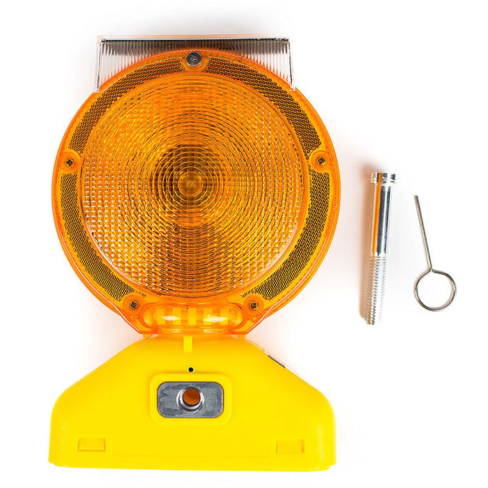 Rechargeable Solar Barricade Amber LED Warning Lights - BLIGHT-ST - RK Safety