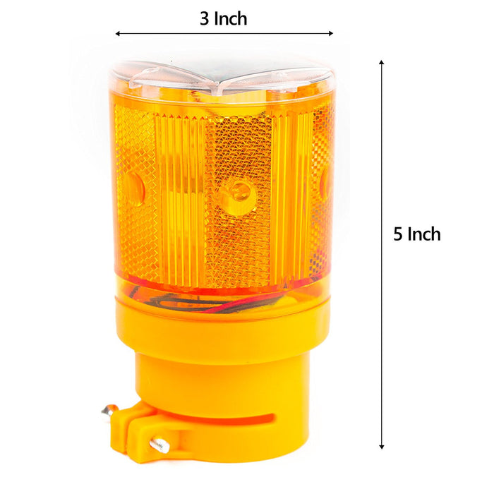 Solar Powered Emergency LED Strobe Lamp Lights - WLIGHT-ST-YW - RK Safety