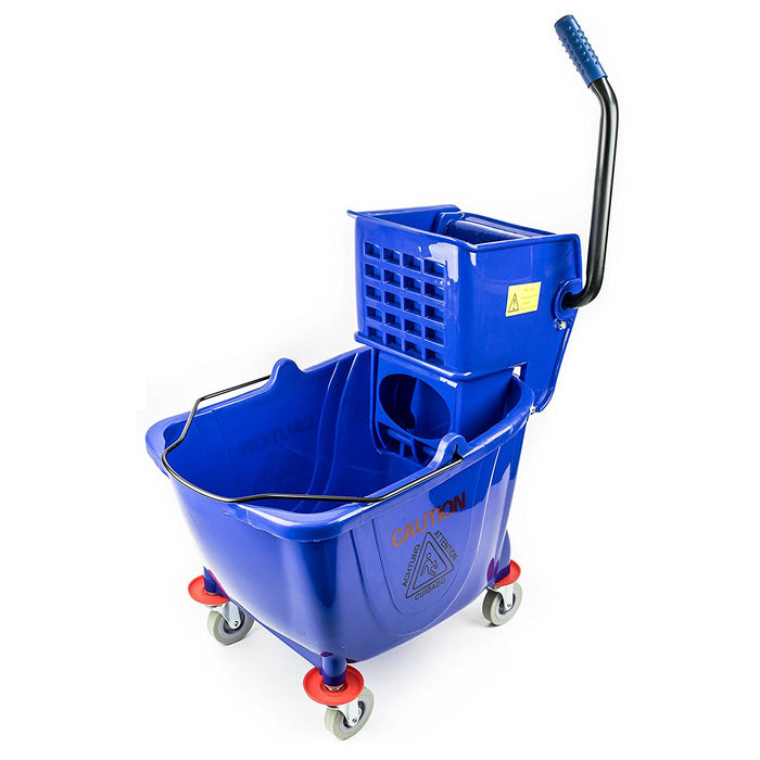 RK Safety Commercial Side Press Wringer Mop Bucket 36qt - RK Safety