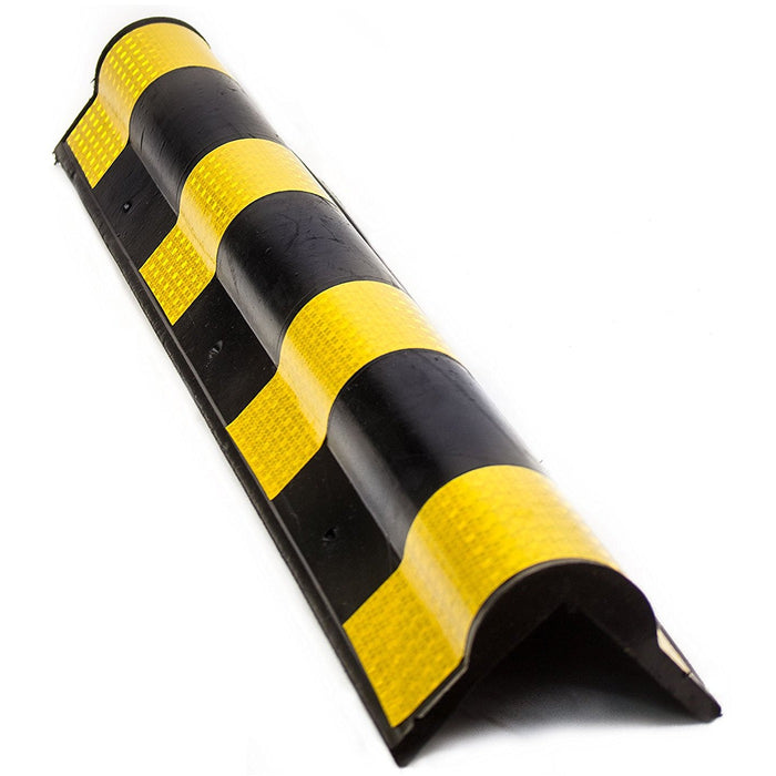 31-Inch Round Shape Rubber Wall Corner Protectors | Rubber Corner Guard - RK Safety