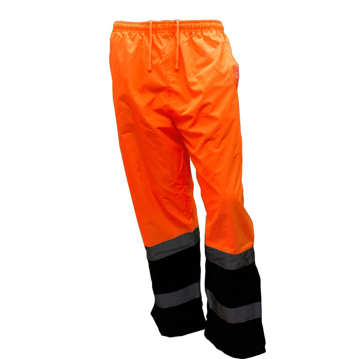 Insulated thermal lined Waterproof Rain Pants Over Trousers -WP0211-New York Hi-Viz Workwear-RK Safety