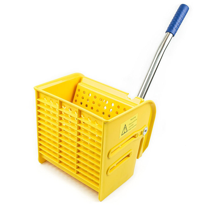 RK Safety Commercial Side Press Wringer Mop Bucket 24qt (Yellow)-RK Safety-RK Safety