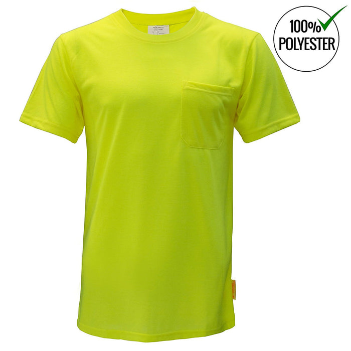 Short Sleeve High-Vis Force Color Enhanced Safety Shirt - S3110-New York Hi-Viz Workwear-RK Safety