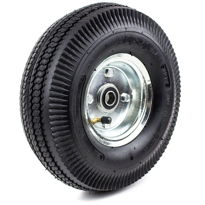 "NK WPNMT-10 Pneumatic Hand Truck Air Tires 10"" x 3-1/2"" Wheel with 5/8"" ID 4.10/3.50 (Qty: 1)-NK-RK Safety"