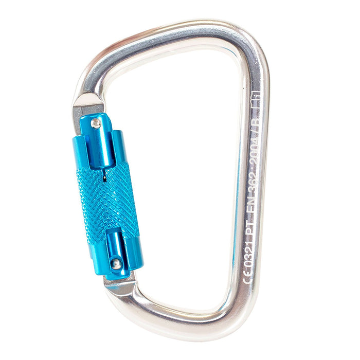 Spidergard Heavy Duty Aluminum Carabiner Auto Twist Lock 25kN - RK Safety