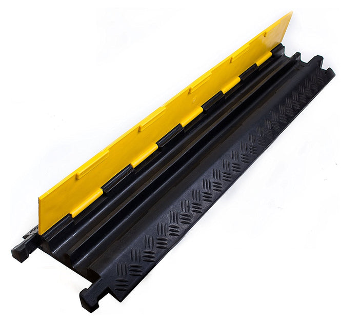 RK Dual Channel Rubber Cable Protector | Rubber Speed Bump-RK Safety-RK Safety