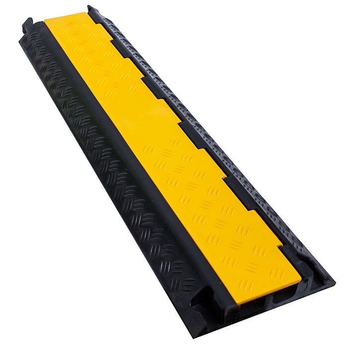 RK Dual Channel Rubber Cable Protector | Rubber Speed Bump - RK Safety