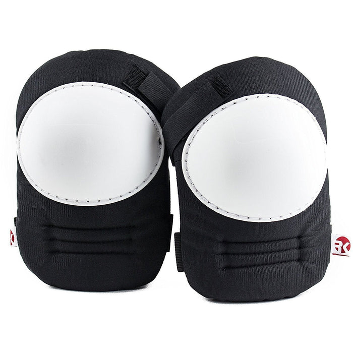 RK Safety Kneepad with White Hard Shell, Stitched Poly Cap-RK Safety-RK Safety