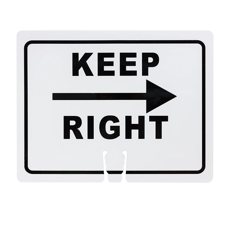 "RK Safety Traffic Cone Sign 11 Legend ""Keep Right"", 18"" Width x 14"" Height, Black on White-RK Safety-RK Safety"