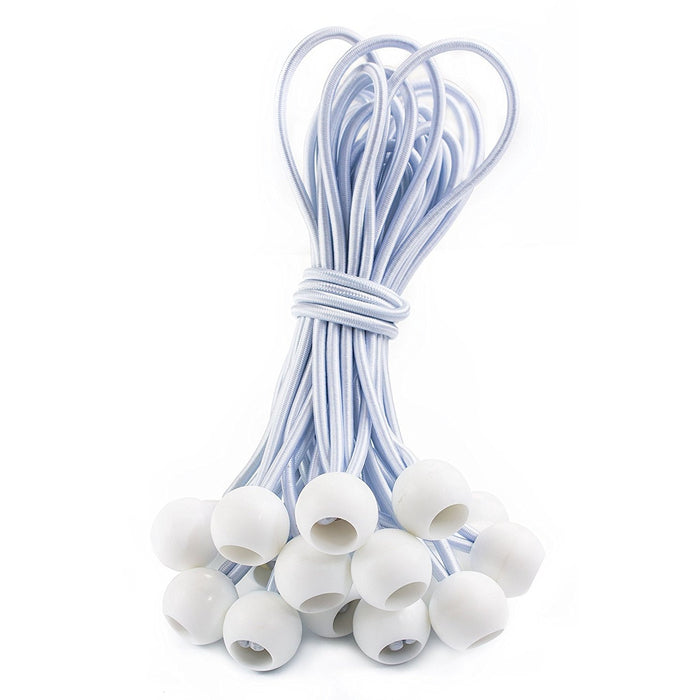 RK Safety Ball Bungee Cords, 25 pc - White-RK Safety-RK Safety