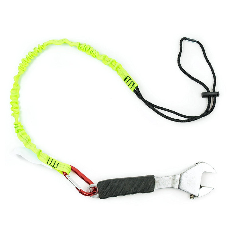 Spidergard 3 ft Tool Lanyard with Single Carabiner, Lime-NK-RK Safety