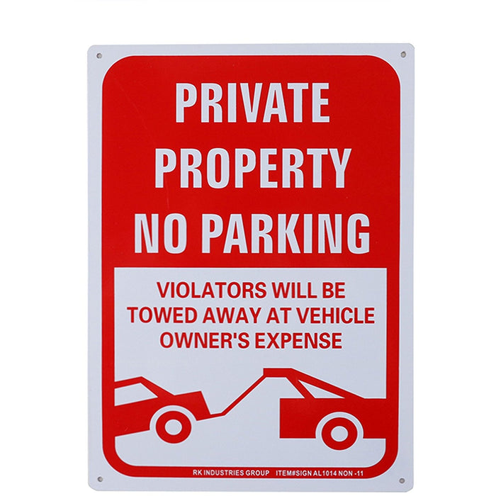 "RK OSHA Safety Sign, Legend ""Private Property, No Parking"" - RK Safety"