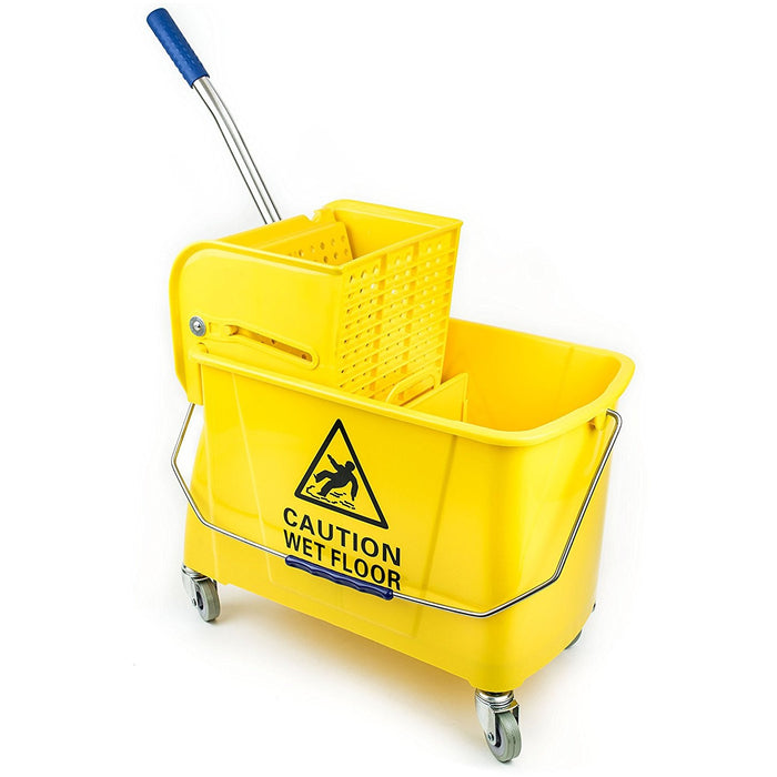 RK Safety Commercial Side Press Wringer Mop Bucket 24qt (Yellow) - RK Safety
