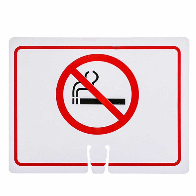 "RK Traffic Cone Sign 18 Legend ""Smoke Free"", 18"" Width x 14"" Height, Red on White-RK Safety-RK Safety"