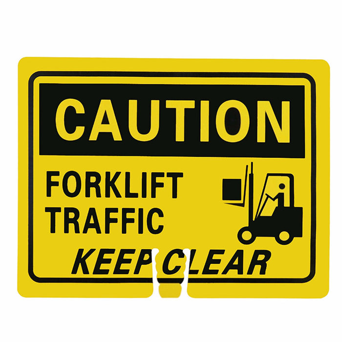 "RK Traffic Cone Sign 38 Legend ""Caution Forklift Traffic"", 18"" Width x 14"" Height, Black on Yellow - RK Safety"