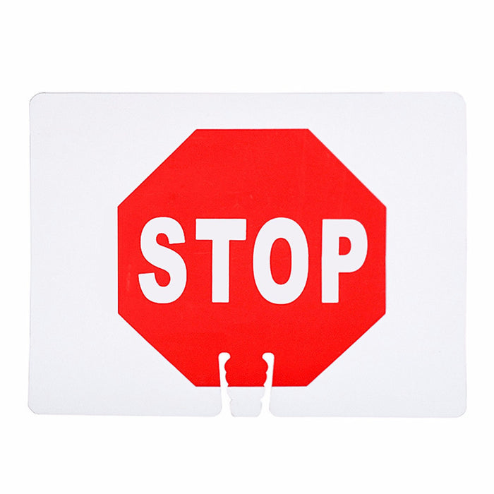 "RK Traffic Cone Sign 20 Legend ""Stop"", 18"" Width x 14"" Height, Red on White-RK Safety-RK Safety"