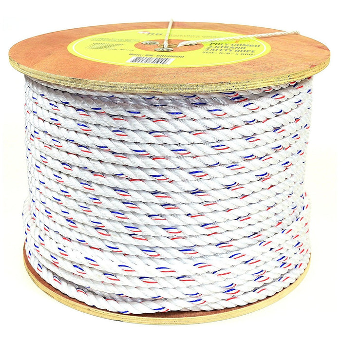 RK SR58600 Poly-Combo 3-Strand Safety Rope, 5/8 in x 600 ft-RK Safety-RK Safety