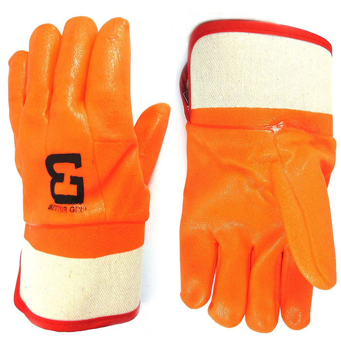 Better Grip® Sandy finished PVC Coated-Supported Glove - BG105ORG-Better Grip-RK Safety
