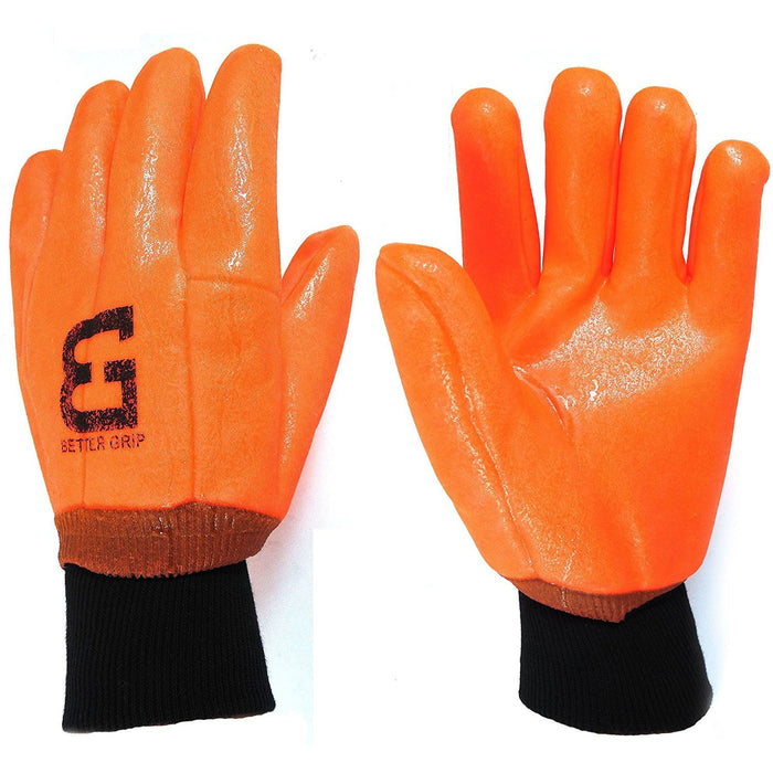 Better Grip® Sandy finished High Vis PVC Coated Gloves - BG105ORGKW-Better Grip-RK Safety