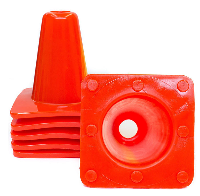 RK Safety 6 Inch Multipurpose Weighted Sports Cones (Orange) - RK Safety