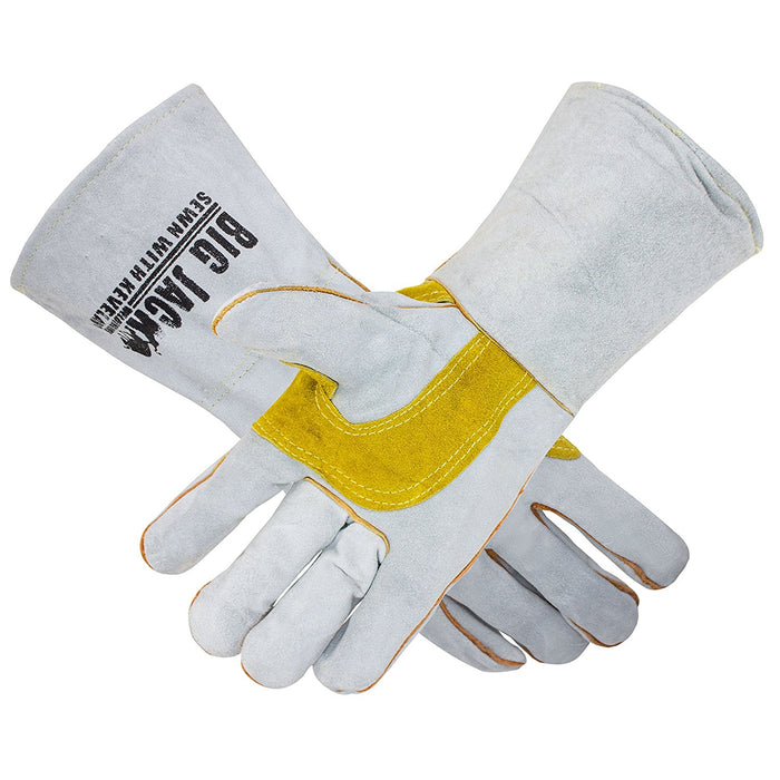 Leather Welding Gloves with Premium Kevlar Stitching - BGBYWELD2 - RK Safety