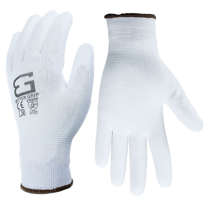 Better Grip® Thin Polyurethane Palm Coated Glove - BGSPUWH-Better Grip-RK Safety