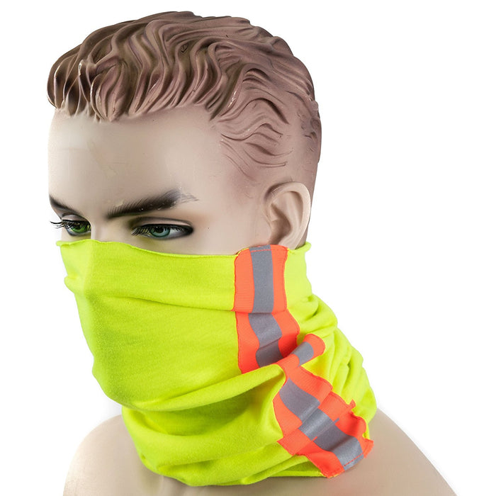 RK-MWCAP Sport Outdoor Multi-Use Headwear Bandanna Headwrap Scarf Wrap, 4 In 1 Headband & Muffler Scarf Face Mask-New York Hi-Viz Workwear-RK Safety