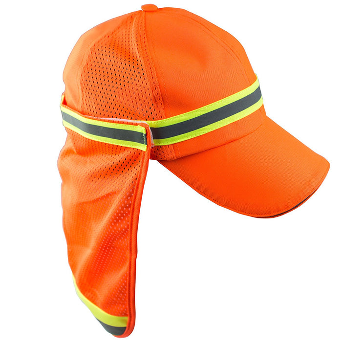 A-safty High Performance Hat with Neck Shade Orange