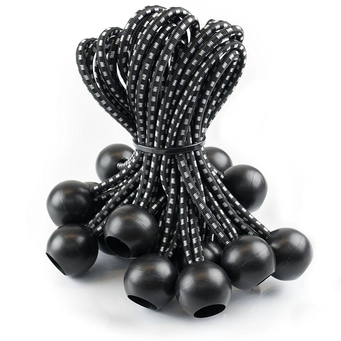 RK Safety Ball Bungee Cords, 25 pc - Black-RK Safety-RK Safety