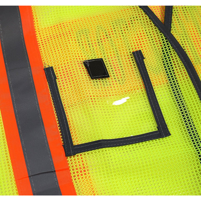 Contractor Safety Vest with Reflective Stripes - 8001 & 8002 (Orange, Lime)-New York Hi-Viz Workwear-RK Safety