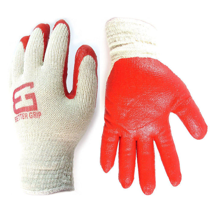 Better Grip® String Knit Double Dipped Latex Palm Coated Gloves-Better Grip-RK Safety