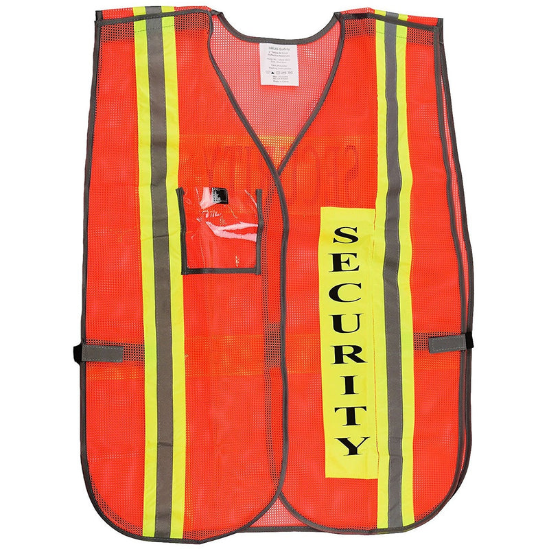 Security Safety Vest with Reflective Strips, One Size Fits All - 8003-New York Hi-Viz Workwear-RK Safety