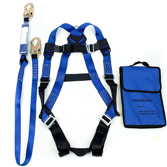 Spidergard Single D-Ring Full Body Harness Bundle - RK Safety