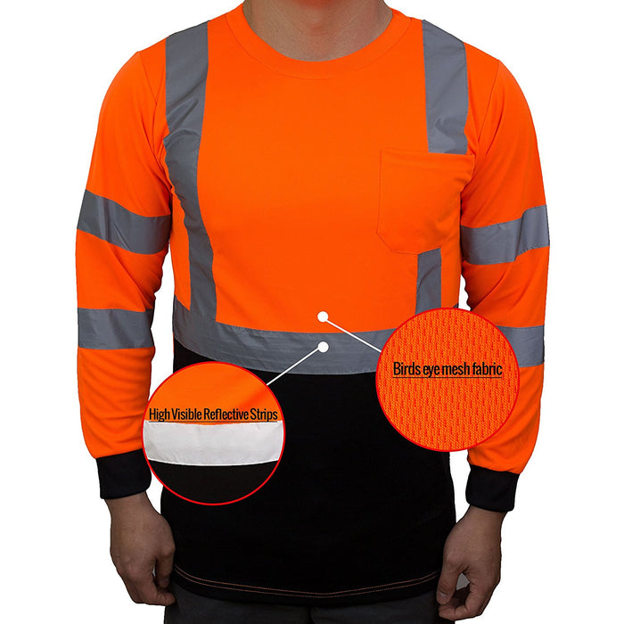Class 3 Hi-Vis T Shirt with Moisture Wicking Mesh - BFL8711-New York Hi-Viz Workwear-RK Safety