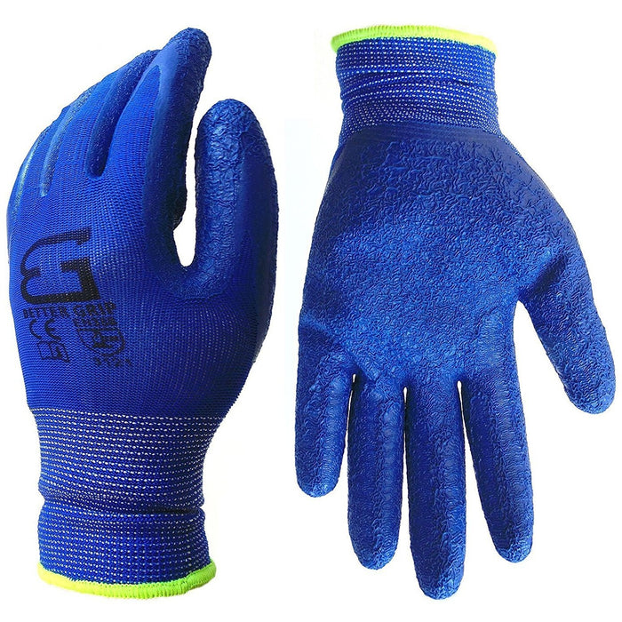 Better Grip® Nylon Gloves Textured Latex Coating Gripping - BGSCLDB-Better Grip-RK Safety