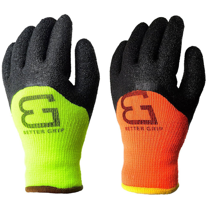 Better Grip® Winter Insulated Crinkle Finished 3/4 Latex Coated Work Gloves-Better Grip-RK Safety