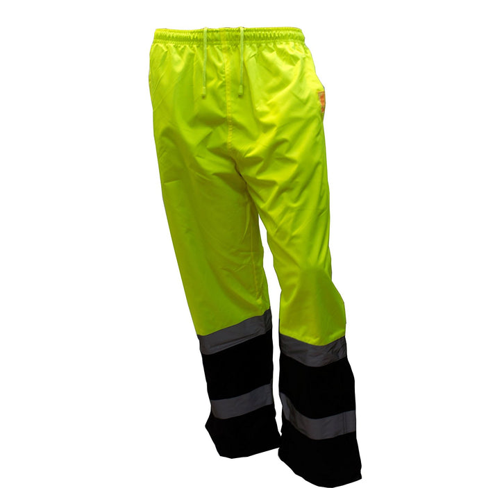 Insulated thermal lined Waterproof Rain Pants Over Trousers -WP0212-New York Hi-Viz Workwear-RK Safety