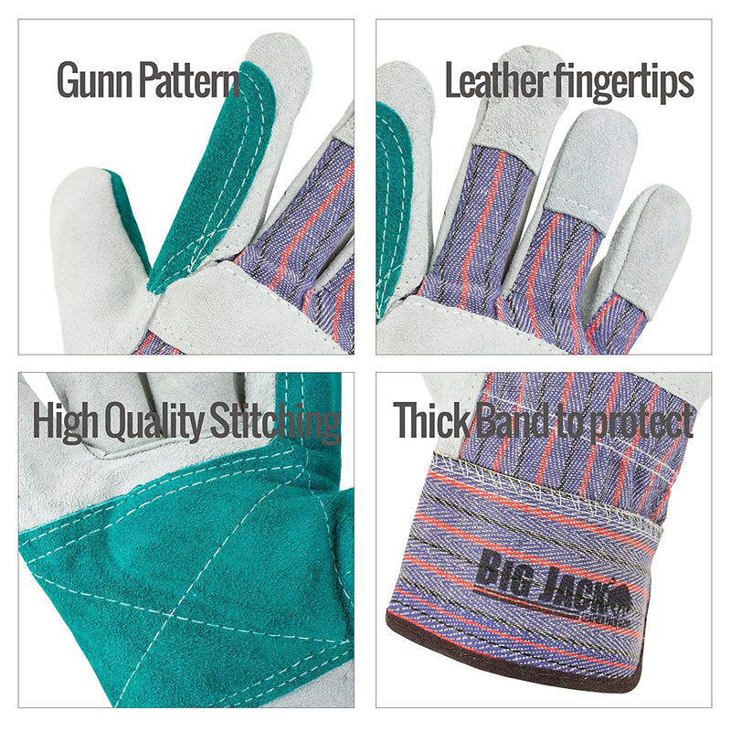 Better Grip® Cowhide Palm Gloves with rubberized safety cuff - BGBY22D-Better Grip-RK Safety