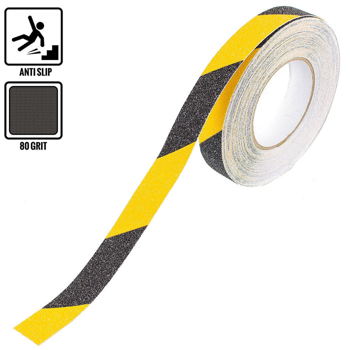 "RK Safety 1"" X 60' Black & Yellow Color Anti Slip Track Tape - RK Safety"