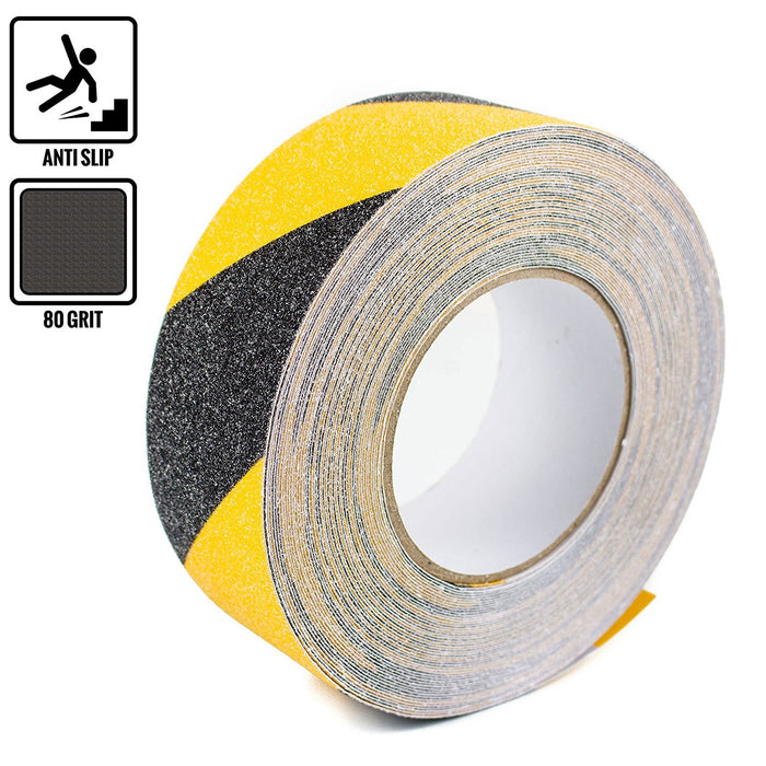 "RK Safety 2"" X 60' Black & Yellow Color Anti Slip Track Tape - RK Safety"