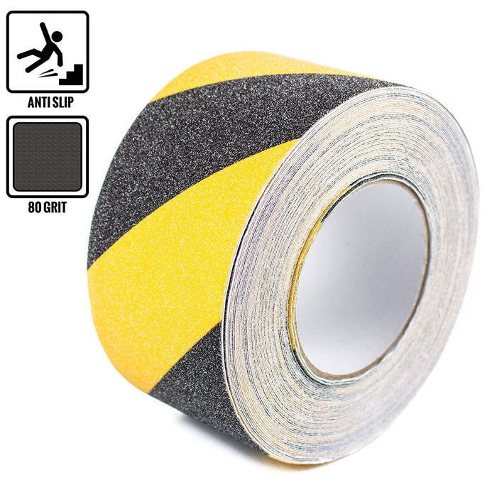 "RK Safety 3"" X 60' Black & Yellow Color Anti Slip Track Tape - RK Safety"