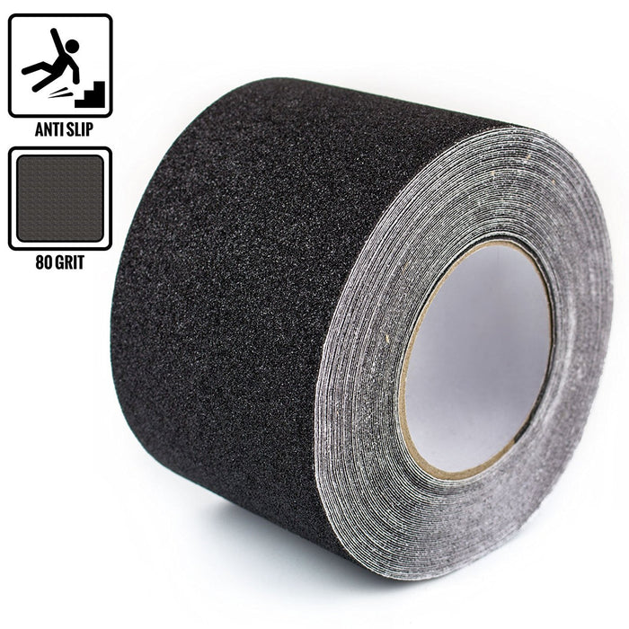 "RK Safety 4"" x 60"" Anti Slip Track Tape Black Color - RK Safety"