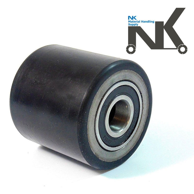 "Pallet Jack Replacement Load Support PU Wheel- 3"" Diameter x 2-3/4"" Wide 20 mm ID-NK-RK Safety"