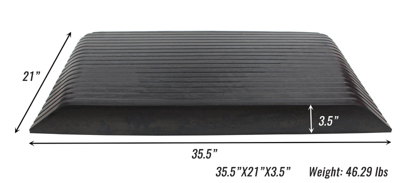 RK Safety RK-RTR06 Rise Solid Rubber Power Wheelchair Scooter Threshold Ramp (2 pcs, 35.5'' x 21'' x 3.5'')-RK Safety-RK Safety